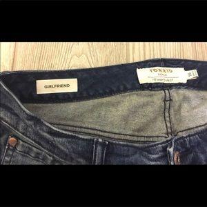 torrid Jeans - Torrid girlfriend doodle art skinny jeans size 16
